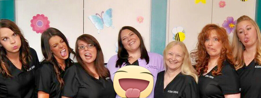 Team with emojis - Staff at Pediatric Dentist in Highlands Ranch, CO