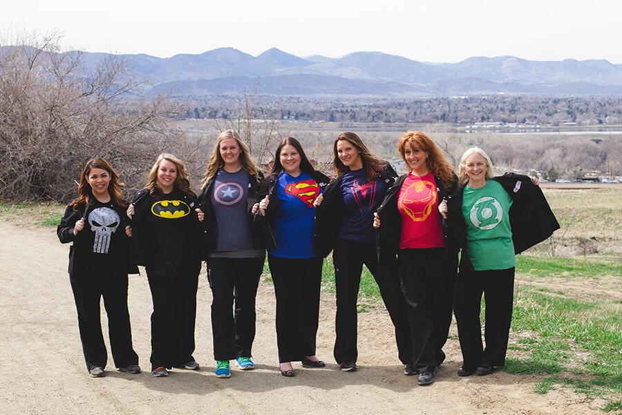 Team as super heros - Staff at Pediatric Dentist in Highlands Ranch, CO